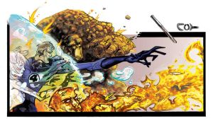 Fantastic Four Coloured by johjames