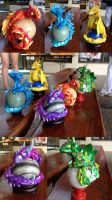 Elemental Gemstone Dragons by SonsationalCreations