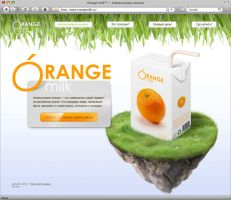 Orange milk: Promo site v1.0 by samuraydesign