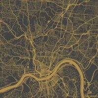 Cincinnati by MapMapMaps