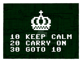Keep Calm and Commodore On Poster by armageddon