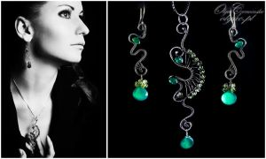Green Onyx Set by OlgaC