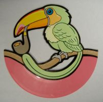 tucan on pink vinyl by matt136