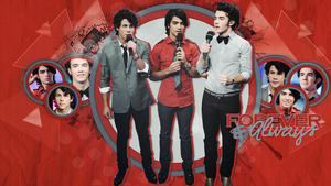 Wallpaper Jonas Brothers Forever and Always by Martha-JB