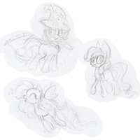 Compilation 1 Pony sketches by PumpkinKikile