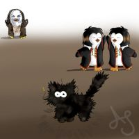 Fred and George Penguins 2 by Akei-Tyrian