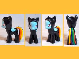 Ninja Rainbow Dash Custom by CadmiumCrab