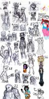 Sly Cooper Sketch Dump by MessedUpEssy