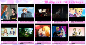 My Top Ten Couples Right Now by GoldenGirl954