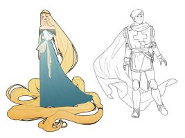 Rapunzel and the soldier by ileWolf