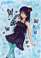 + butterfly music + by Wera-chan