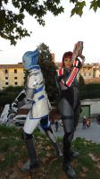 Mass Effect - Liara e Shepard - LCG 2013 by Mylittlehedgehog