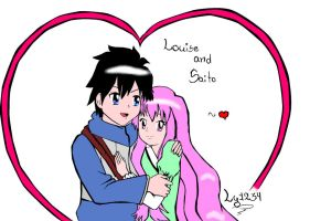 :Louise and Saito: by LadyYuna1234