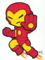 Chibi-Iron Man. by hedbonstudios