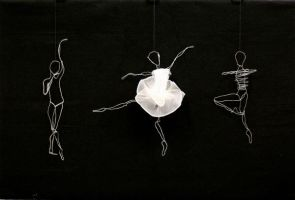 wire sculpture ballerinas by kao24