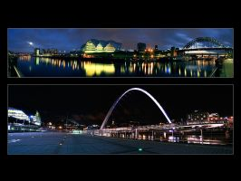 Newcastle Panorama Print by geckokid