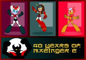 MAZINGER GIRLS,40 YEARS OF MAZINGER by CrimsonFace