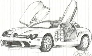 mercedes benz slr mclaren sketch by chrislah294