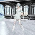 Keiko in Snow 01 by BubbleCloud