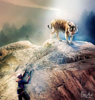 A Tiger on a Mountain by FlitsArt