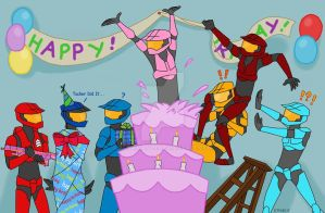 Red vs Blue Birthday by AltairA7Vn
