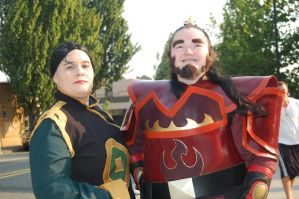 Iroh and woman Kumoricon by Z-studios