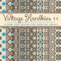 Free Vintage Handkies 11 Patterned Papers by TeacherYanie