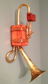 Steampunk Wall hanging iPhone Dock 1 by Macabre151