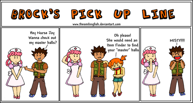 Brock's pick up line by TheSmilingFish