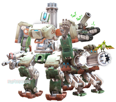 MMDxOverwatch: Bastion by RandomDraggon