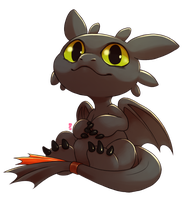 Chibi Toothless by Aishishi