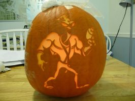 Earthworm Jim Pumpkin 2 by ceemdee