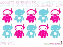 Sushibot wallpaper 1 by pezbananadesign