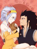 What are you reading, shrimp? Levy x Gajeel by SunHee2244