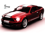 Shelby GT500 Red Wallpaper by REDWOOD3D