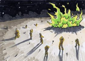 War of the Worlds Sketch Card (21) by GeekyWhiteGuy