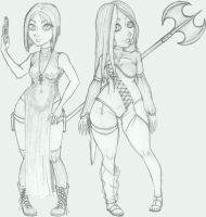 Sin City: Alice and Xola by disj0inted