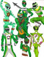 Missing Green Rangers by LavenderRanger