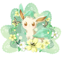 Commission #6  Leafeon by Ayasal