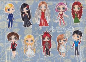 C: Chibies set 4 by Michaela9