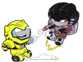 bumbles and starscream by prisonsuit-rabbitman