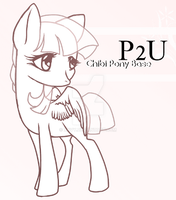 P2U Chibi Pony Adoptables Base : Updated by Xnvy