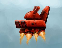 Bunny Armored Hover Ship by Jeffufu
