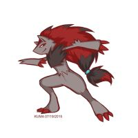 Photoshop Practice - Zoroark by KumaDanDan