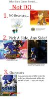 What Sonic Game Should Not Do by sonicxrules219