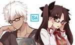 Rin x Archer - Fate Stay Night by ariey99