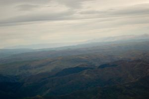 NZ Mountains viewed from high by Chunga-Stock