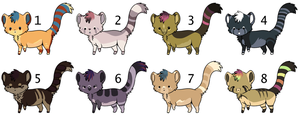 8 adoptables closed by CitruShark