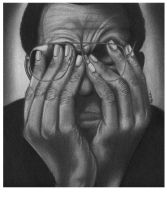 Man Worried Graphite Rendering by reyjdesigns