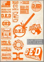 D.E.D logo designs by Dead-Eye-Doodles